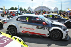 Sebastien Loeb bil efter loppet Royaltyfria Bilder