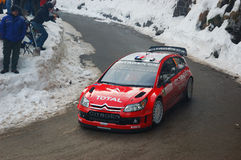 Sebastien Loeb - Montecarlo Rally Royalty Free Stock Image