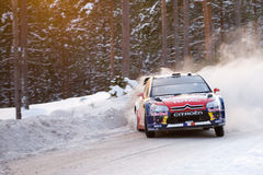 Sebastien Loeb - Rally Sweden 2010 Royalty Free Stock Photos