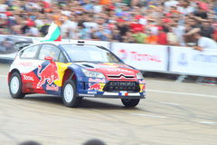 Sebastien Loeb in Sofia Royalty Free Stock Images