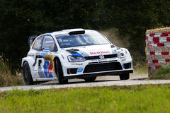 Sebastien Ogier at ADAC Rally Deutschland 2013 Royalty Free Stock Images