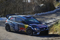 Sebastien Ogier, three times world champion Royalty Free Stock Image