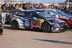 Sebastien Ogier Volkswagen Polo R WRC - Monte Carlo Rally 2016 Imagem de Stock