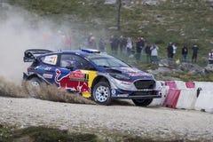 Sebastien Ogier, WRC, Ford Fiesta WRT Stock Afbeelding