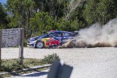 Sebastien Ogier WRC, Ford Fiesta WRT Royaltyfri Foto