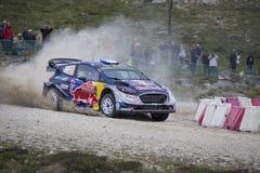 Sebastien Ogier WRC, Ford Fiesta WRT Royaltyfria Bilder