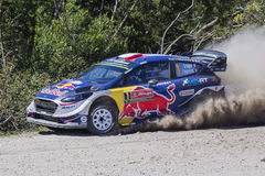 Sebastien Ogier, WRC, Ford Fiesta WRT Royalty Free Stock Photo