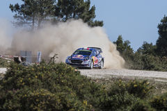 Sebastien Ogier, WRC, Ford Fiesta WRT Royalty Free Stock Photos
