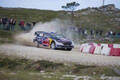 Sebastien Ogier, WRC, WRT de Ford Fiesta Imagen de archivo libre de regalías
