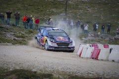 Sebastien Ogier, WRC, WRT de Ford Fiesta Fotografía de archivo libre de regalías