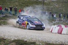 Sebastien Ogier, WRC, WRT de Ford Fiesta Foto de archivo libre de regalías
