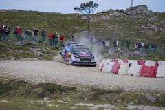 Sebastien Ogier, WRC, WRT de Ford Fiesta Imágenes de archivo libres de regalías