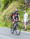 Sebastien Reichenbach på Sänka du Tourmalet - Tour de France 2014 Royaltyfria Bilder