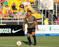 Sebastien Thuriere, Midfielder, Charleston Battery. Charleston Battery midfielder Sebastien Thuriere #8 Royalty Free Stock Photo