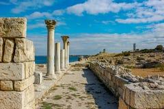 SEBASTOPOLI, CRIMEA - SETTEMBRE 2014: ` Storico e archeologico di Chersonese Taurian del ` della Museo-riserva immagini stock