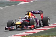 Sebatian Vettel of Red Bull Stock Images