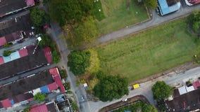 Aerial look down kite fly
