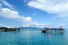 Sebesi海岛码头 免版税库存照片