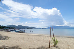 Sebesi Beach. Taken at Sebesi Island in front of my homestay Royalty Free Stock Photography