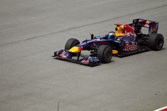 Sebestian Vettel bij Maleise formule 1 ras Stock Afbeelding