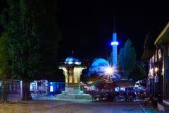 Sebilj和街道场面,萨拉热窝 免版税库存照片