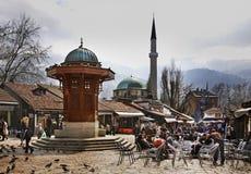 Sebilj fountain on Bascarsija square in Sarajevo. Bosnia and Herzegovina Royalty Free Stock Images