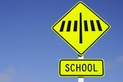 sebra för tecken för crossingvägskola Royaltyfria Foton