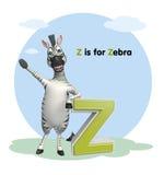 Sebra med alfabet Royaltyfri Foto