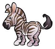 Sebra Safari Animals Cartoon Character Royaltyfri Foto