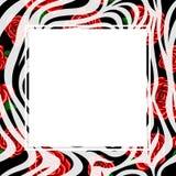 Sebratryckgräns med röd rosdesign Royaltyfri Bild