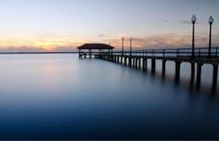 Sebring City Pier at sunset, Florida Stock Photo