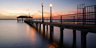 Sebring City Pier at sunset, Florida Stock Photography