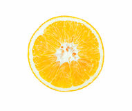 Secção transversal da laranja foto de stock