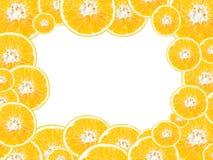 Secção transversal das laranjas imagem de stock