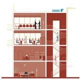 Secção transversal de construção Imagens de Stock Royalty Free