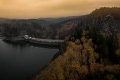 Sec dam in Czech Republic royalty free stock photo