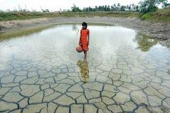 Seca & água da chuva Fotos de Stock