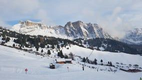 Secada ski resort in winter Royalty Free Stock Images