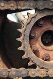 Secado acima da corrente e da roda denteada Imagem de Stock Royalty Free