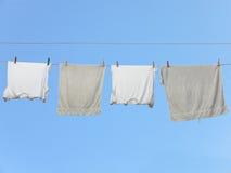 Secado de las ropas interiores imagen de archivo