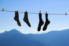 Secado de los calcetines Imágenes de archivo libres de regalías