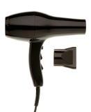 Secador de cabelo preto imagens de stock