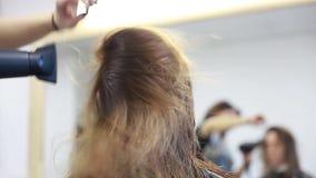 Secador de pelo del cabello seco del peluquero metrajes