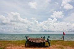 Secador dos peixes de mar ao lado do mar Fotografia de Stock Royalty Free