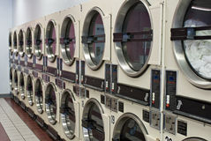 Secadores de la lavandería Imagen de archivo libre de regalías