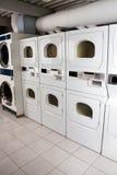 Secadores de ropa del autoservicio Foto de archivo