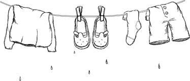 Secagem da roupa Imagem de Stock