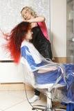 Secagem do cabelo imagem de stock royalty free