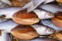 Secagem salgada tradicional dos peixes Imagens de Stock Royalty Free