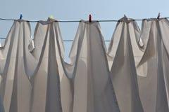 Secando a lavanderia Imagem de Stock